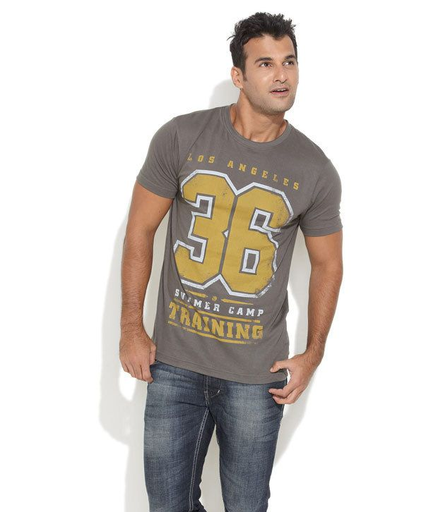 Ferrous Gray Cotton T-shirt