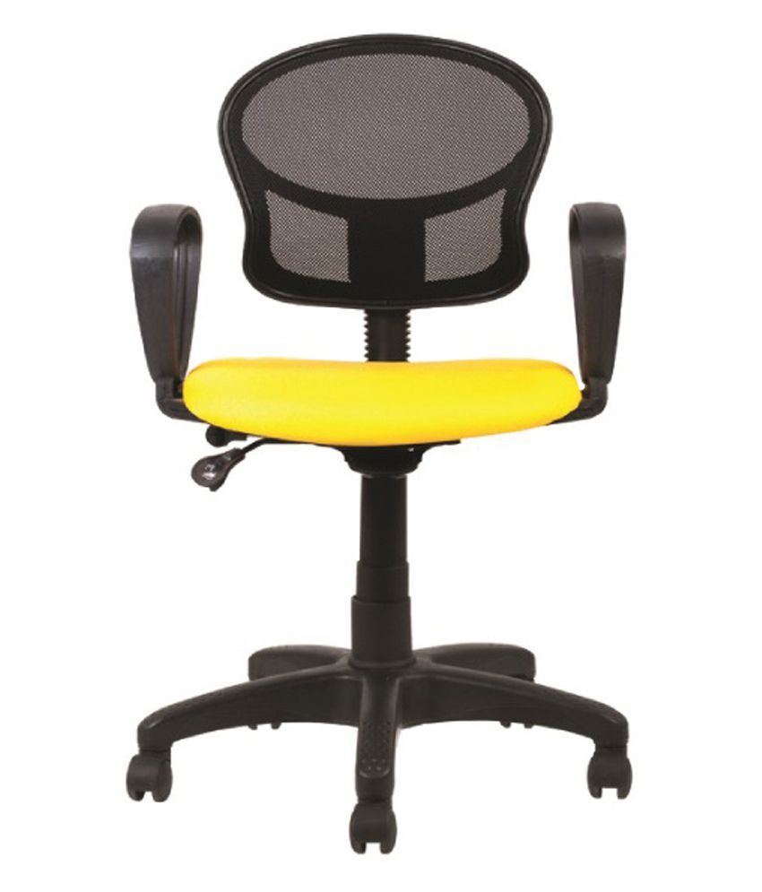 Ff yellow natural finish office chairs buy online at best