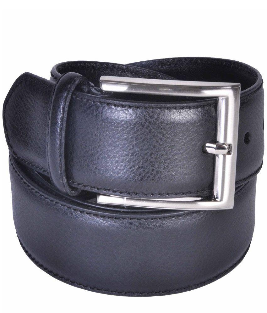 Leather Plus Black Leather Formal Belts
