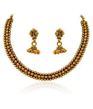 Vastradi Beautiful Artificial Jewellery Gold Like Necklace Set