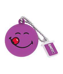 Emtec Smiley's world YUM YUM 8GB Pen Drive(purple)