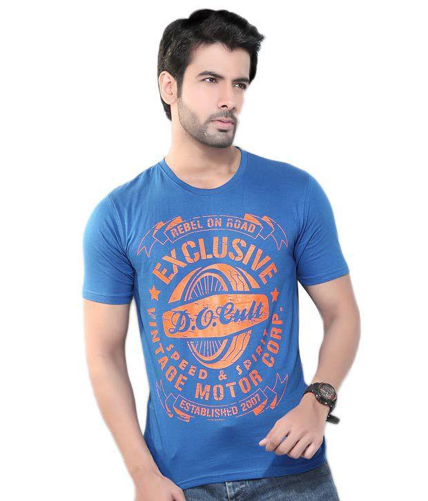 Cometodo Blue Cotton T-Shirt