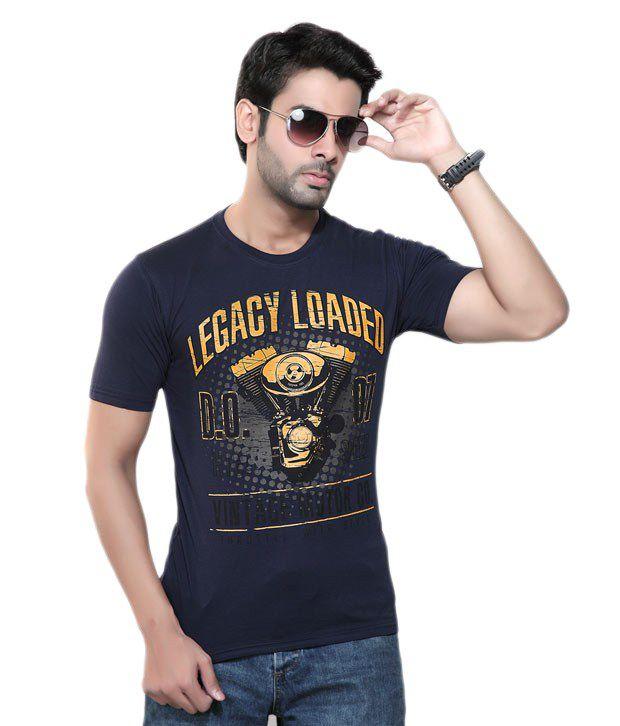 Cometodo Navy Cotton T-Shirt