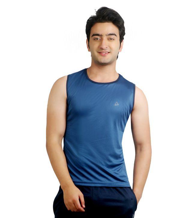 Nitrite Blue Polyester  T-Shirt