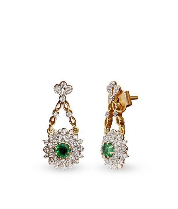 Shashvat Jewels 18KT Stunning Hanging Floral Earring