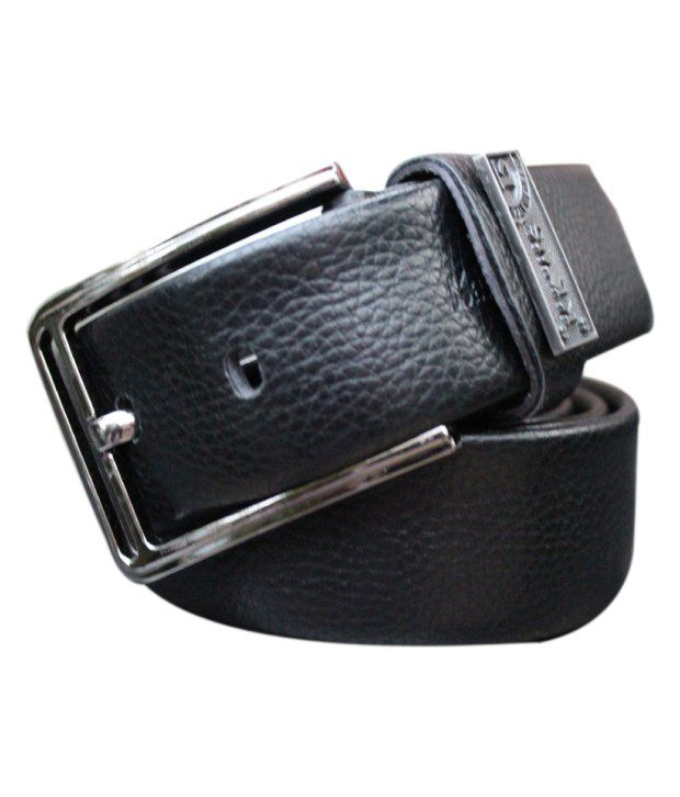 WINSOME DEAL Black Casual Single Belt ForMen No