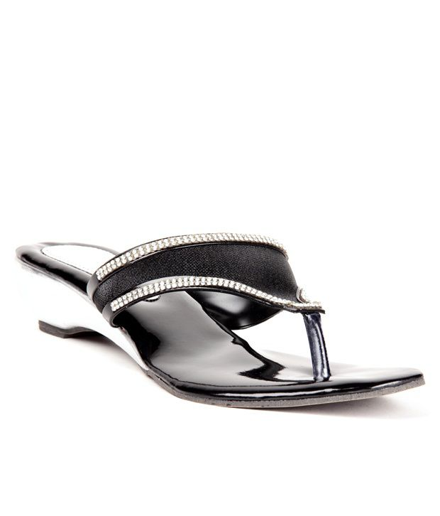 Anand Archies Black Heeled Slip-On
