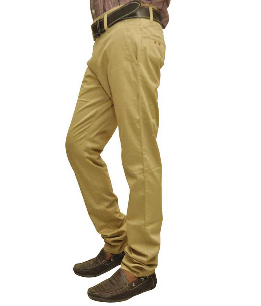 British Terminal Beige Slim Casuals Chinos