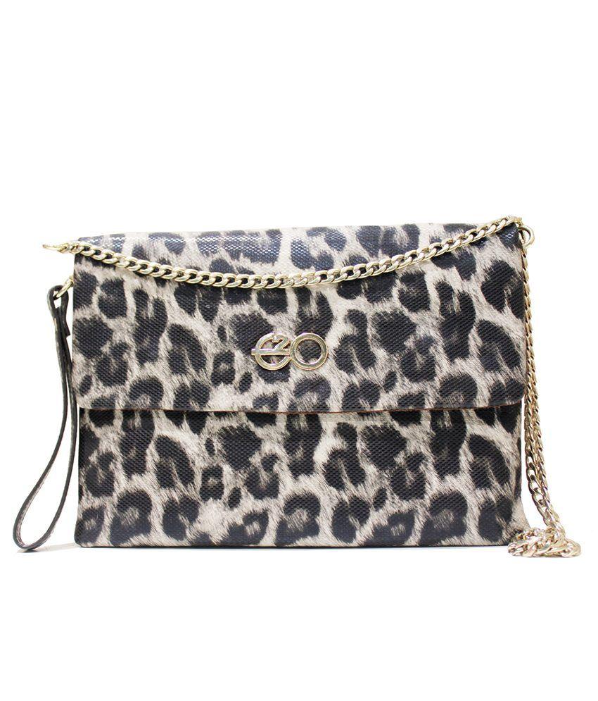 E2O 168grey Gray Sling Bags