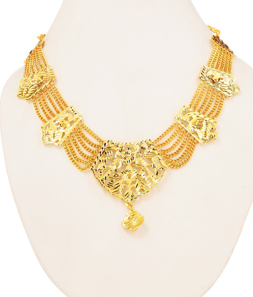 GoldPlated Southindian Style Lightweight Necklace by GoldNera
