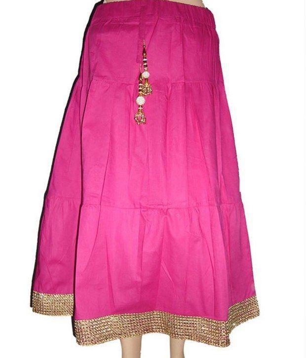 Sweet Angel Pink Color Full Length Fancy Skirt For Kids