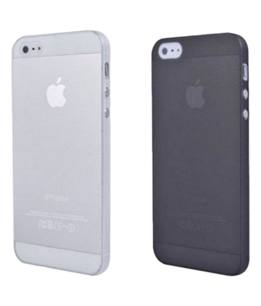 best website 1893a adc9b TCA iPhone 5 5S Case Cover Ultra Thin 0.3mm TPU Case - Pack Of 2 Clear &  Black