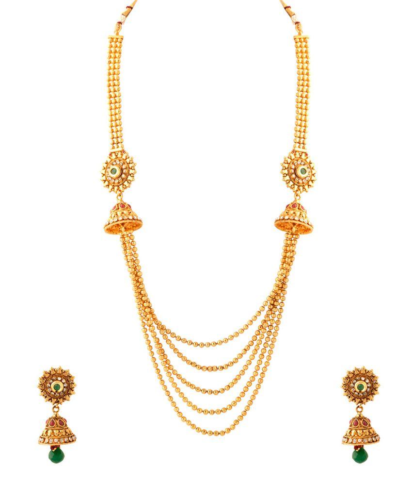 Voylla Gold Necklace With Queenly Motif