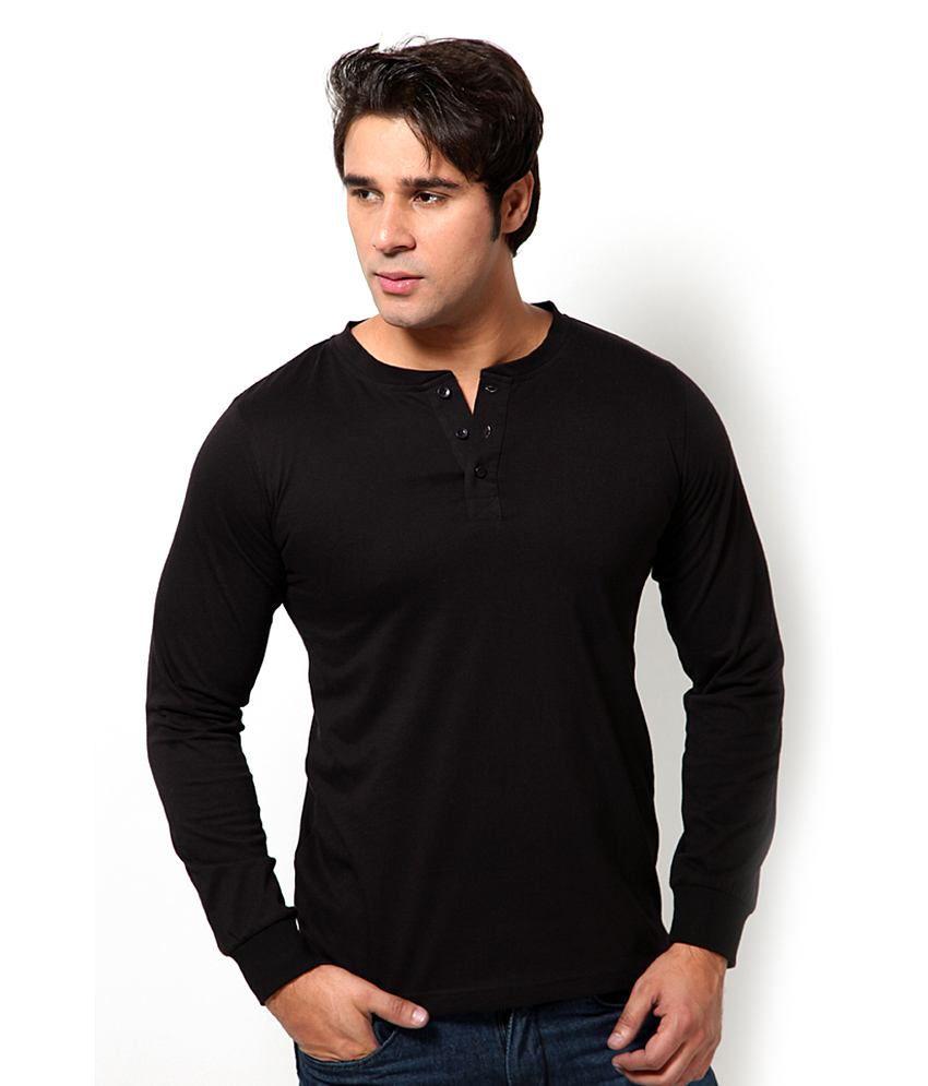 Jack & Jones Black Cotton Blend T-Shirt