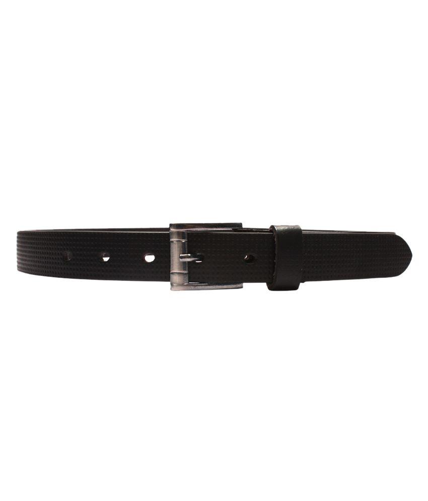 Ligans NY Black Formal Single Belt ForMen