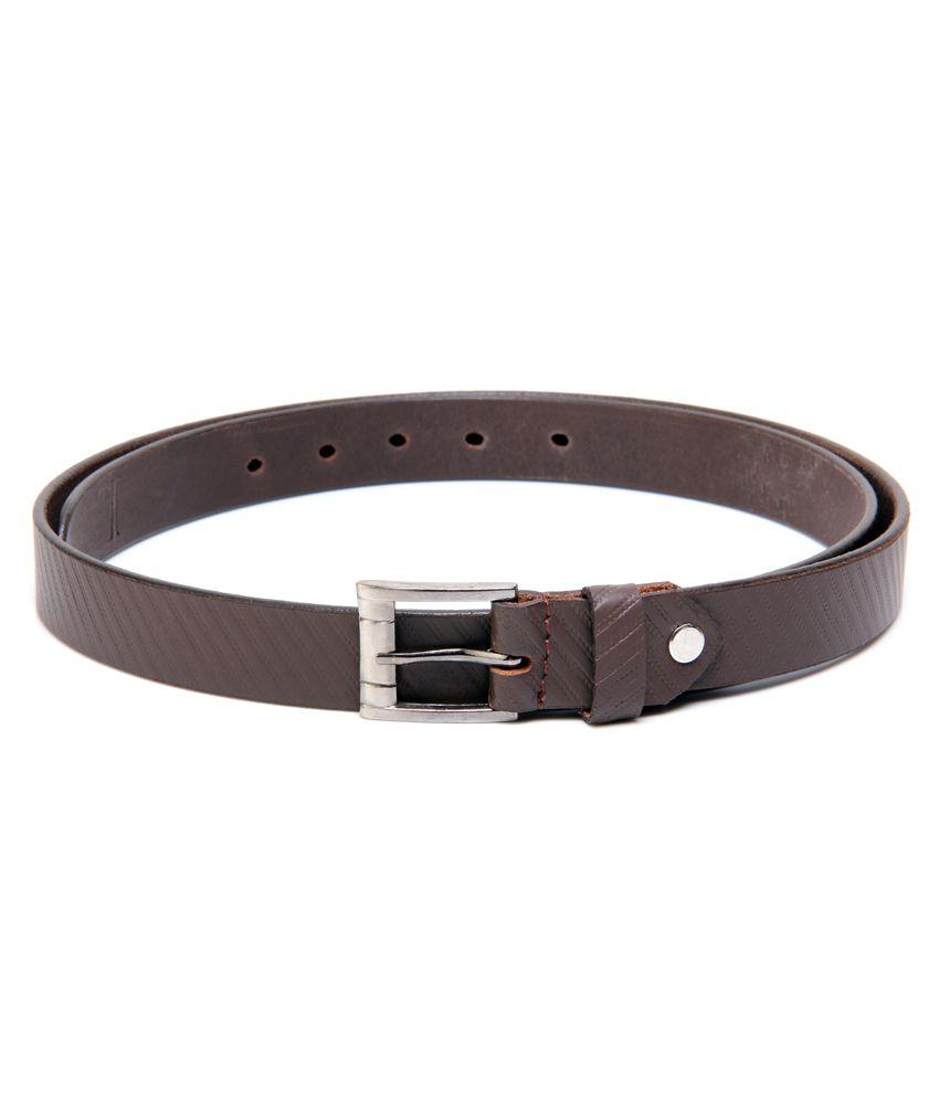 Ligans NY Brown Formal Single Belt ForMen