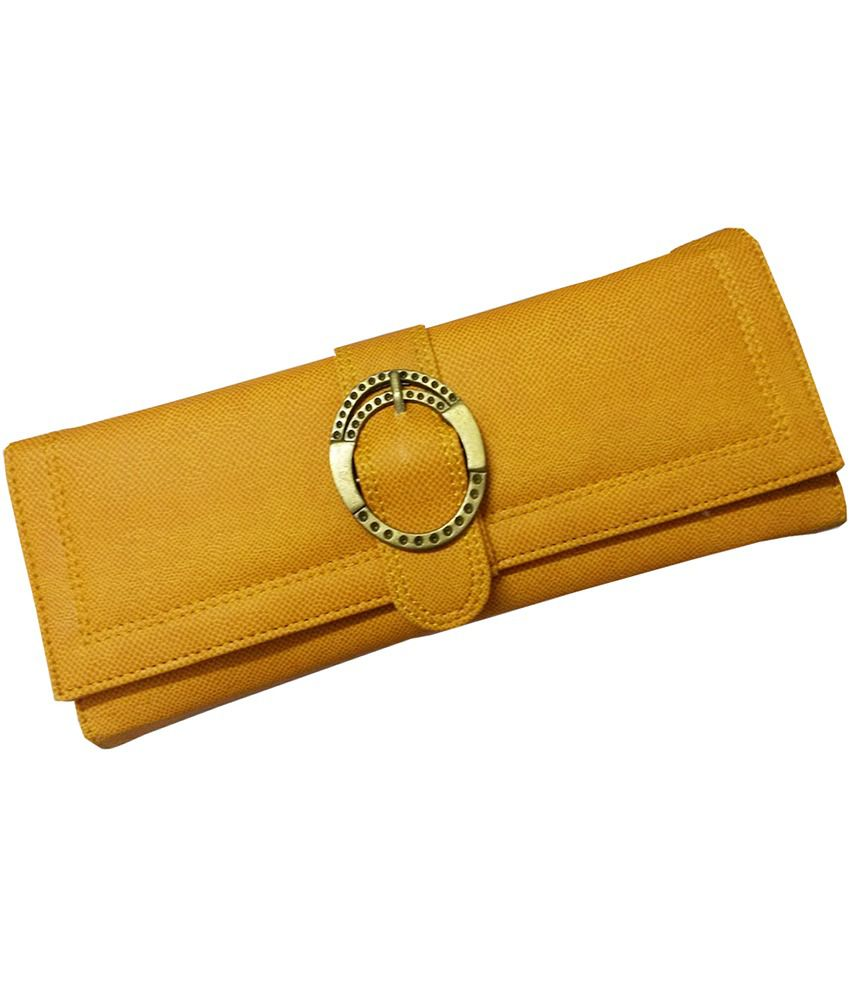 b8facbc4e58 Buy Shopkiks New Designer Girls Clutch Wallet Purse Hand Bag For Women With  Card Slot - Yellow at Best Prices in India - Snapdeal