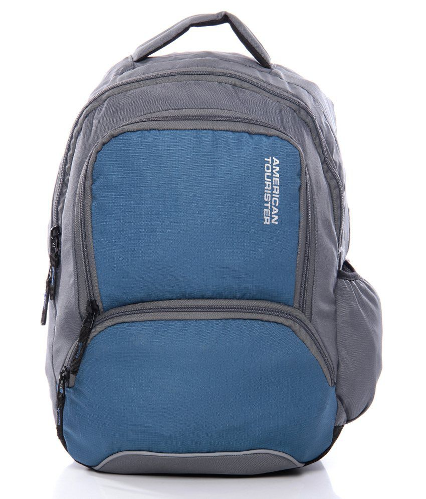 American Tourister Blue & Grey Backpacks