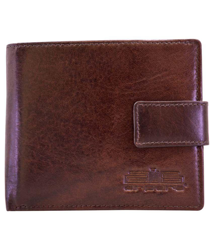 Arpera Slim Brown Leather Mens Travel Wallet