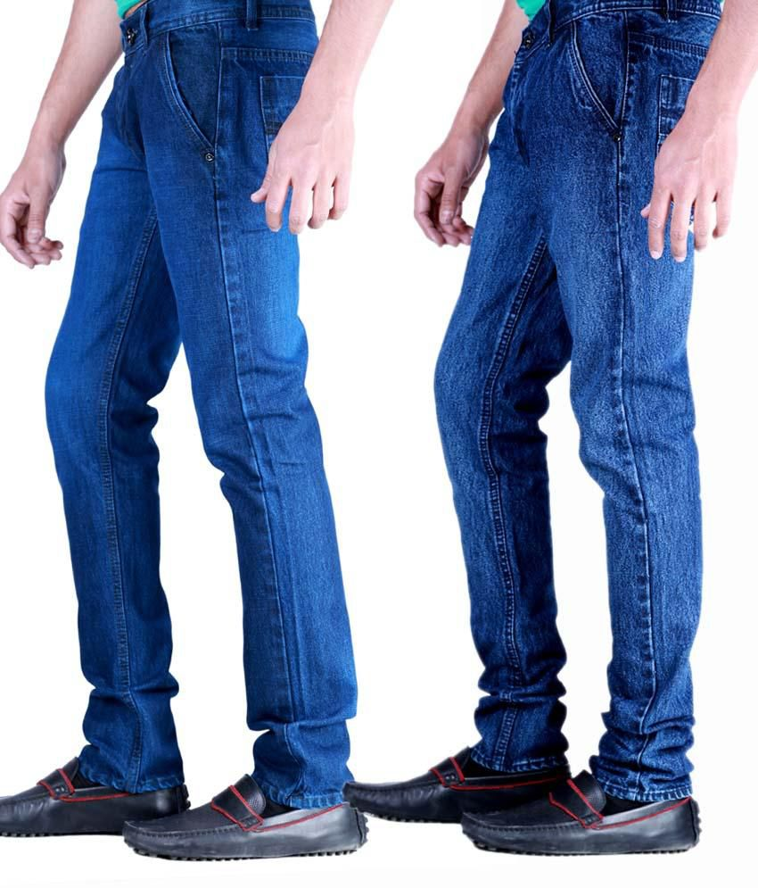 Kaasan Classic Pack of 2 Men's   Jeans Combo