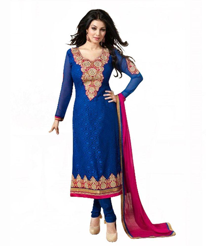 Tavashri Fashion Blue Dress Material