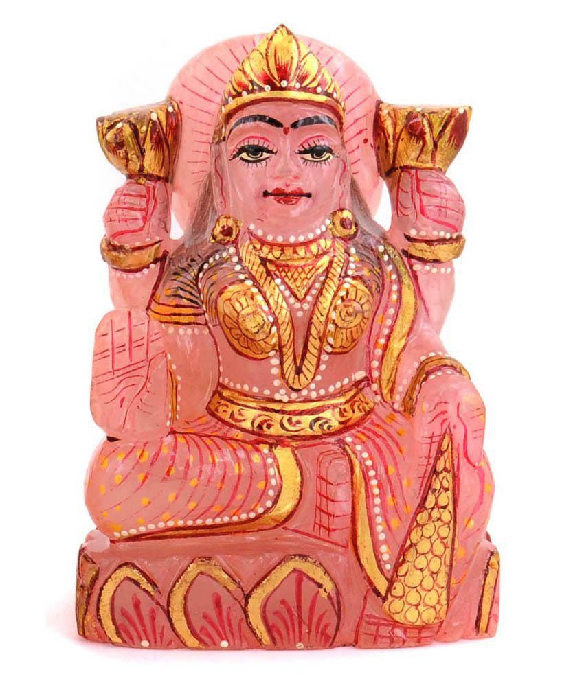 Barishh Laxmi Idol 2248 Carat Handmade Rose Quartz Gemstone