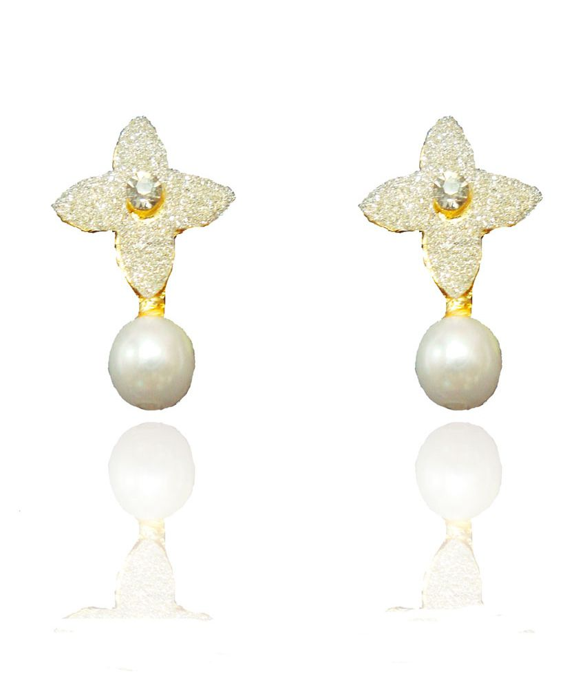 Beingwomen White Stud Earring