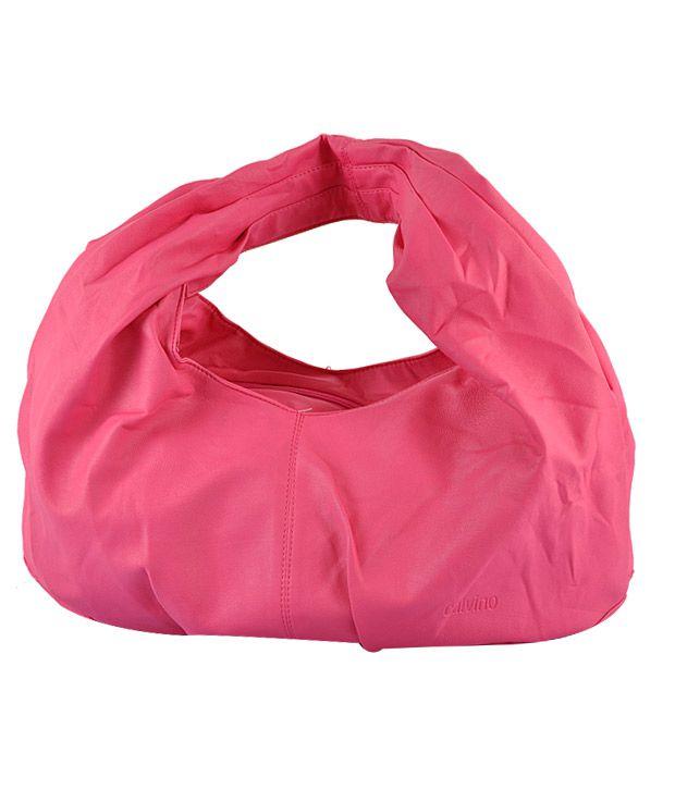 Calvino Pink Hobo Handbag