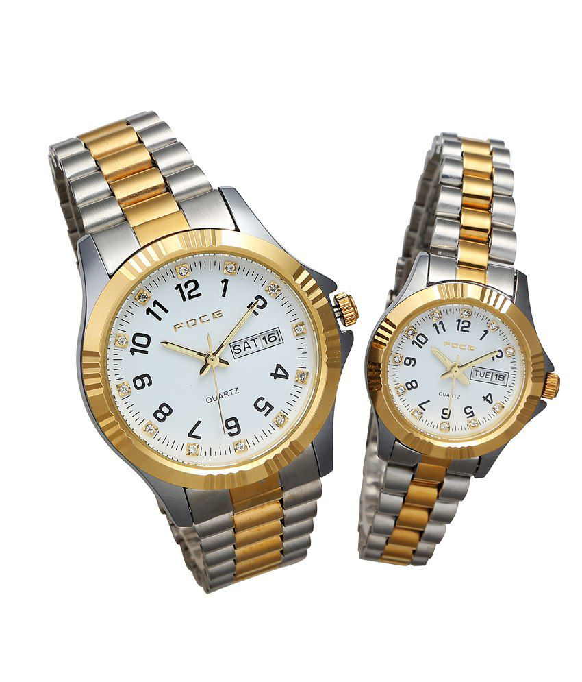 foce gold silver his and wrist set price in