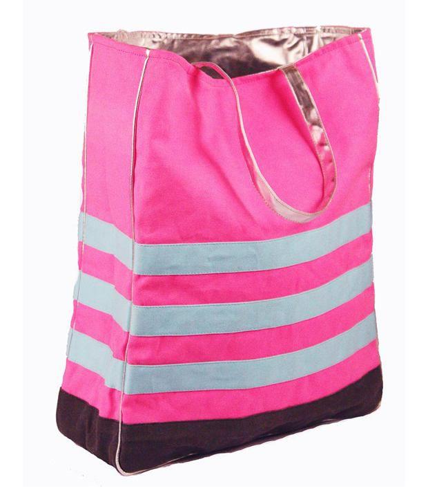 Harp Fuschia Tote Bag Stripe