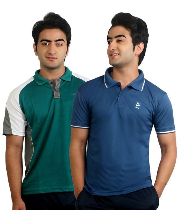 Nitrite Multi  Polo T-Shirt(Combo of 2)