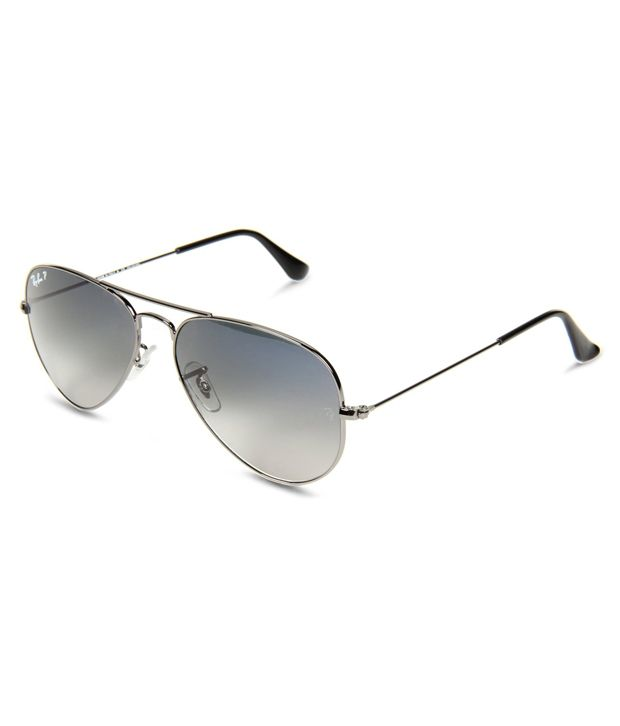 polarized aviator sunglasses ihht  Ray-Ban Grey Polarized Aviator Sunglasses RB3025 004/78 62-14