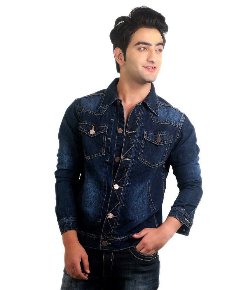 9068f850a6a4 Ripfly Blue Denim Full Sleeves Jacket For Men - Buy Ripfly Blue ...