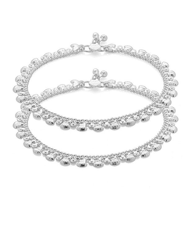 Voylla Anklet Pair With Shell Ornamentation