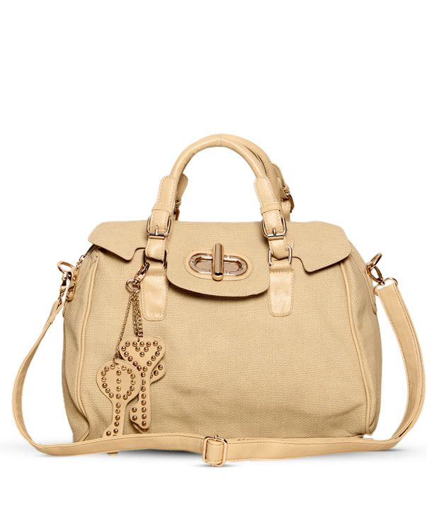 1 Bolzo Light Brown Key Chain Design Handbag
