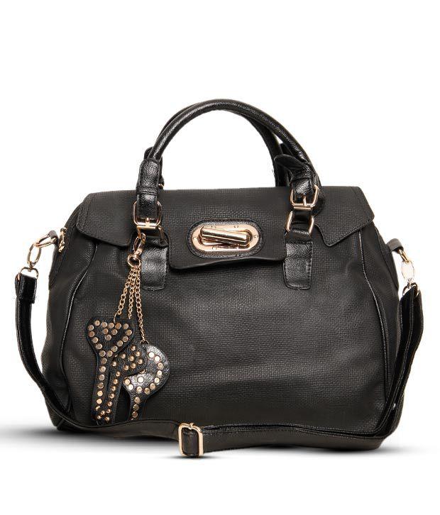 1 Bolzo Stunning Black Key Chain Design Handbag