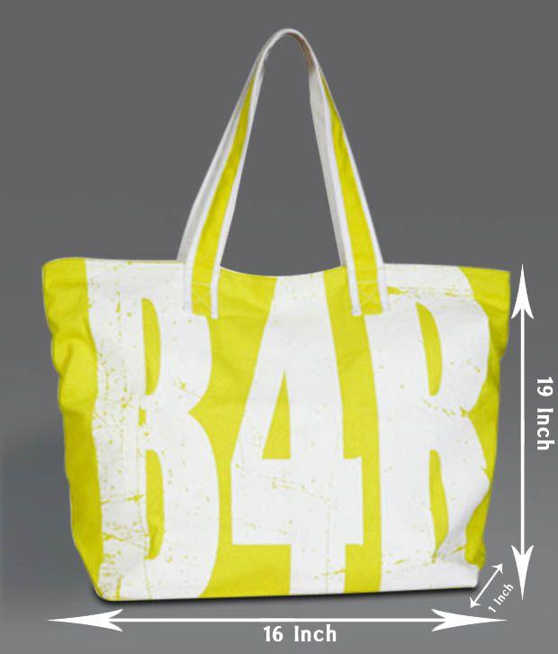 B4Bag Green & White Tote Bag