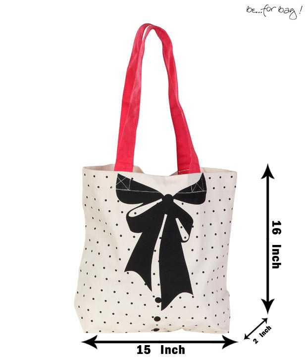 Be For Bag Adorable White & Pink Handbag