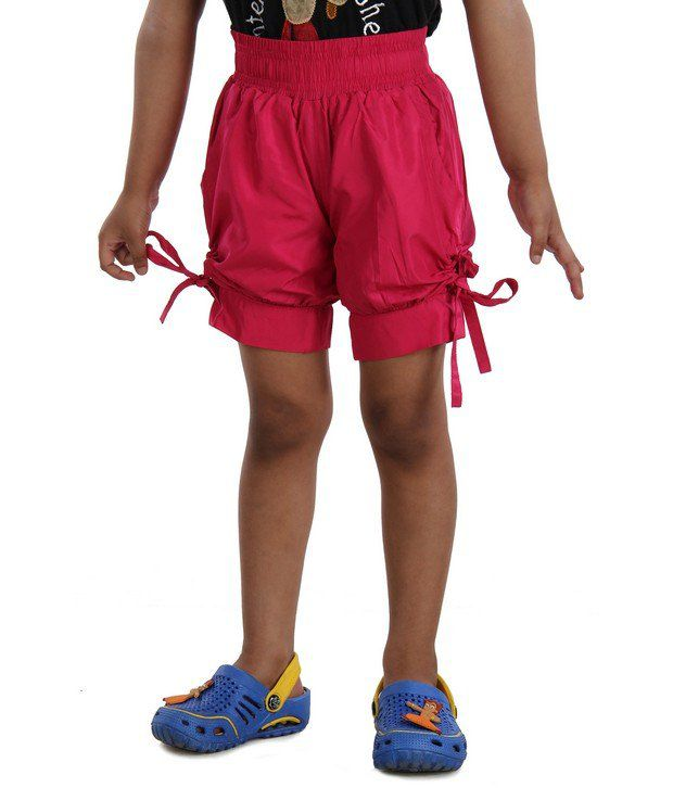 DAZZGEAR Pink Color Elasticated waistband Cargo Pocket Shorts For Kids