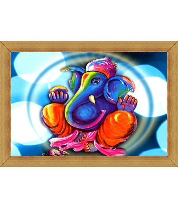 Jstarmart Photo Frame Ganpati Bappa C170 12x18 Jsmph0016 Buy