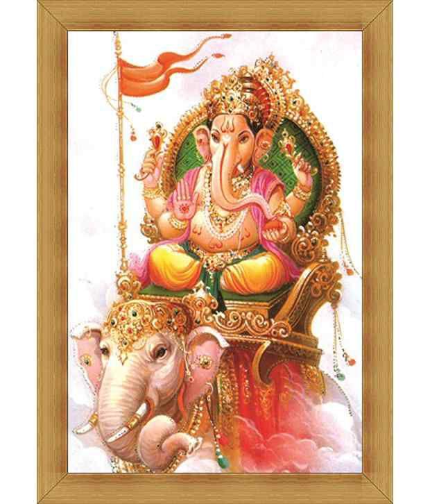 Jstarmart Photo Frame Ganpati Bappa Ganesh C216 12x18 Jsmph0017