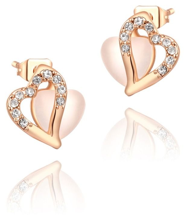 Kaizer Lovely Heart 18K Gold Plated Earrings