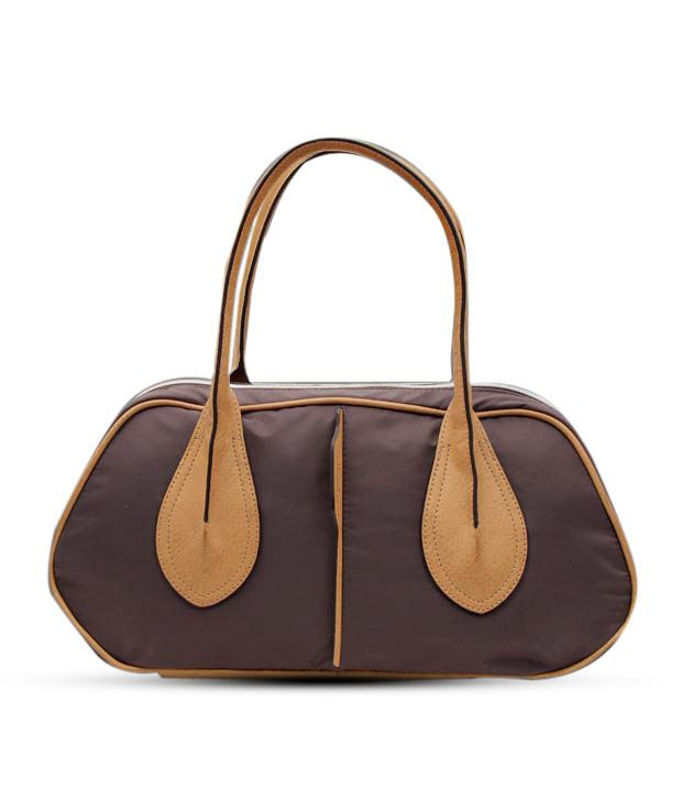 Lavie Dark Purple & Beige Handbag