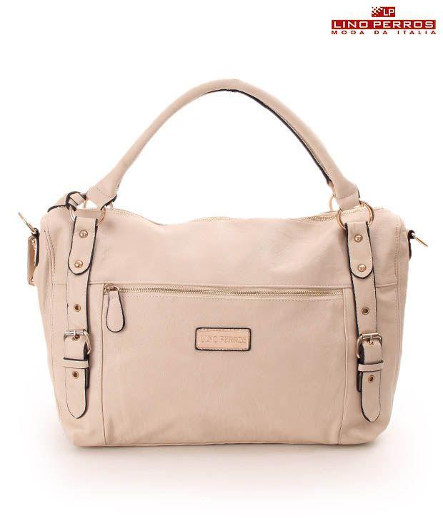 Lino Perros Elegant Cream Stylised Handbag