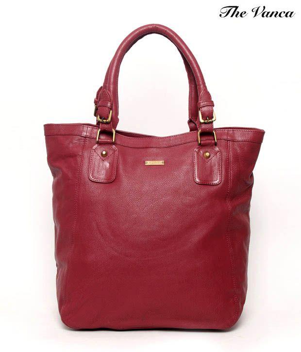 The Vanca Maroon Oversized Handbag