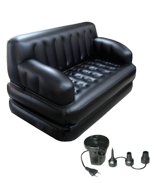 everything imported bestway portable inflatable 5 in 1 sofa cum bed buy everything imported. Black Bedroom Furniture Sets. Home Design Ideas