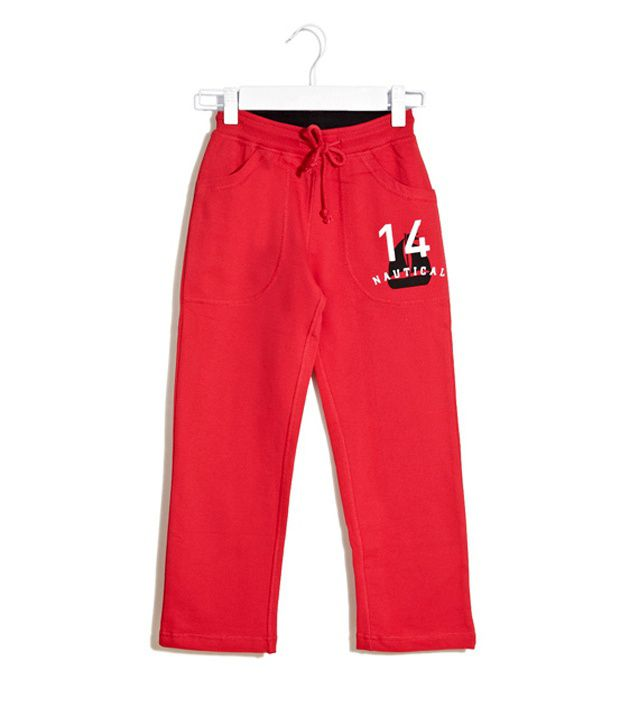 Scullers Kids Red Capris  For Girls