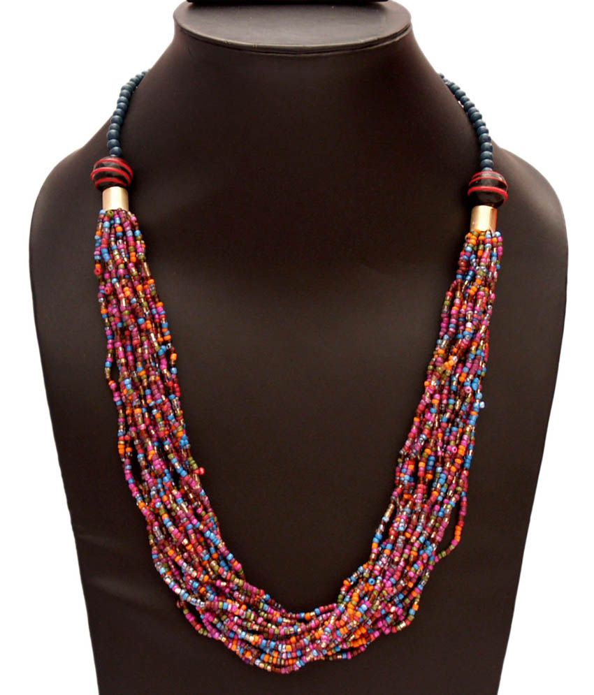 Vr designers multicolor seed bead necklace buy vr for Where to buy jewelry online