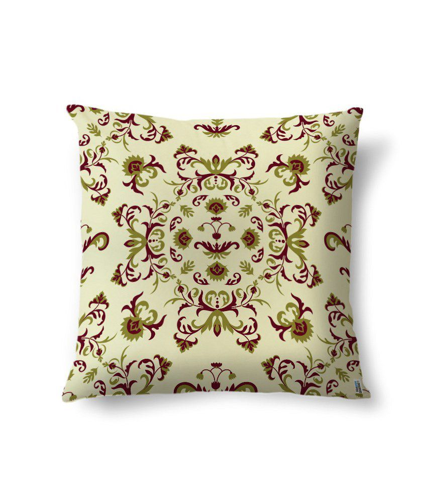 bluegape Abstract Flower Print Design Digitally Printed Cushion Cover 1 Piece