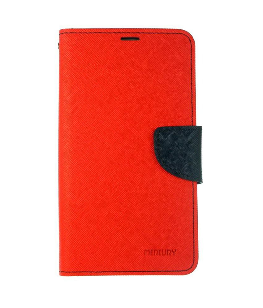 Dressmyphone Designer Textured Leather Flip Cover For Sony Xperia Z1 - Red